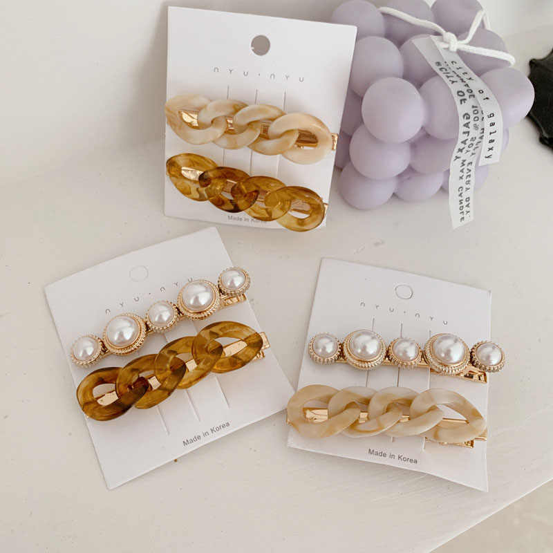 New Korean Women Hair Clip Pearl Star Golden Heart Hairpin Hair Accessories Gift