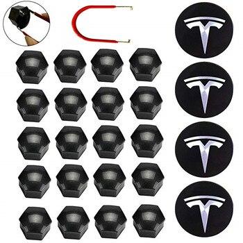 NEW Wheel Cover Trim Wheel Hub Cap Kit for Tesla model 3 Wheel Accessories Model 3 Hub Cover Car Emblem Badge + Lug Nut Covers