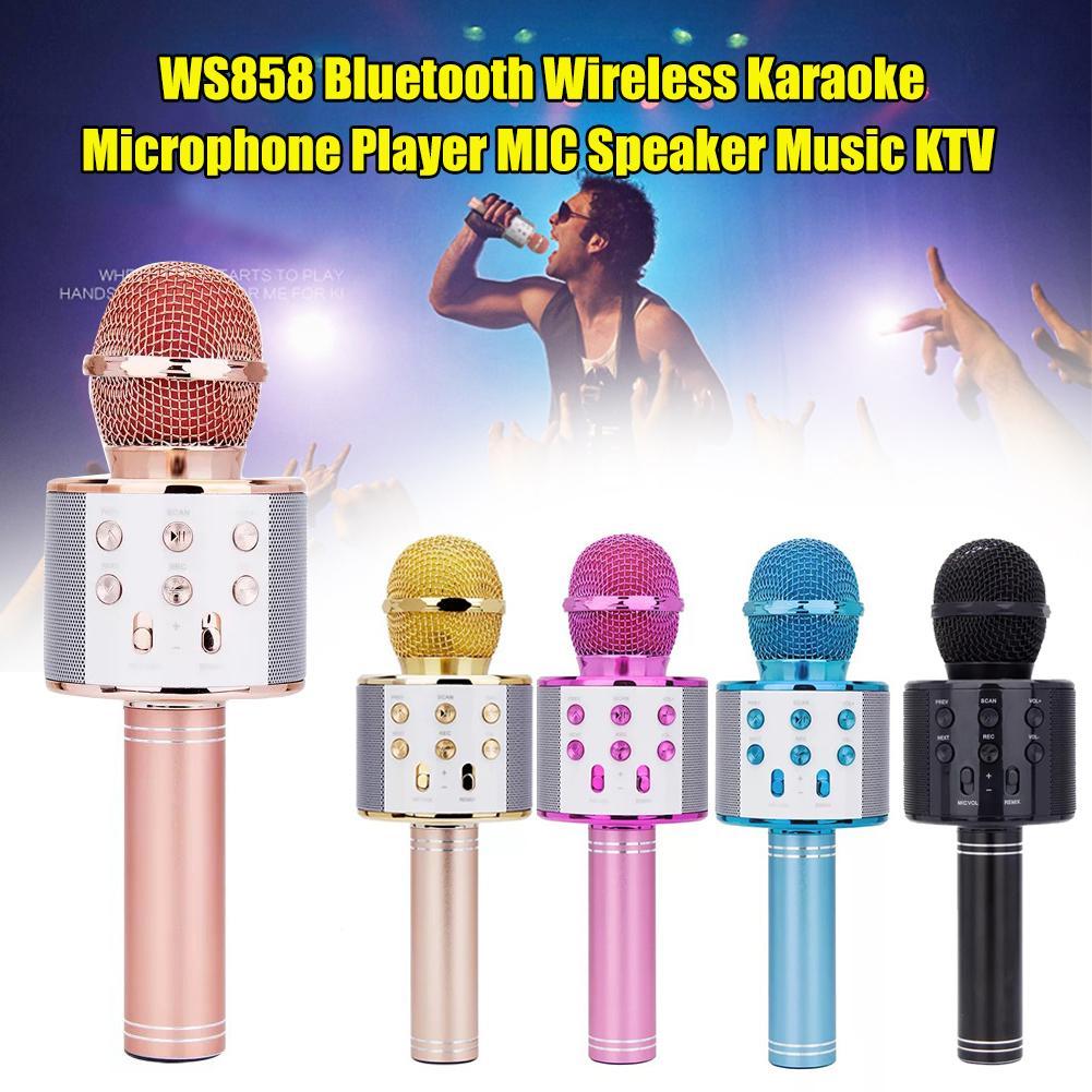 Professional Bluetooth Wireless Microphone Karaoke Speaker KTV Music Player Singing Recorder Handheld Microphone Mic 1800Mah