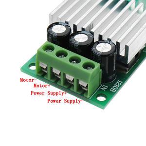 Image 4 - تيار مستمر 12 فولت إلى 24 فولت 10A عالية الطاقة PWM وحدة تحكم في سرعة محرك التيار المستمر تنظيم سرعة درجة الحرارة و يعتم سرعة تنظيم لوحة صغيرة