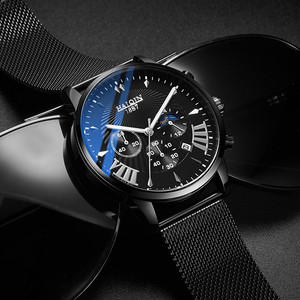 Image 2 - Herren Uhren Top Brand Luxus HAIQIN Militärische Wasserdichte Uhr Männer Business Quarz Chronograph Mesh Stahl Uhr Relogio Masculin