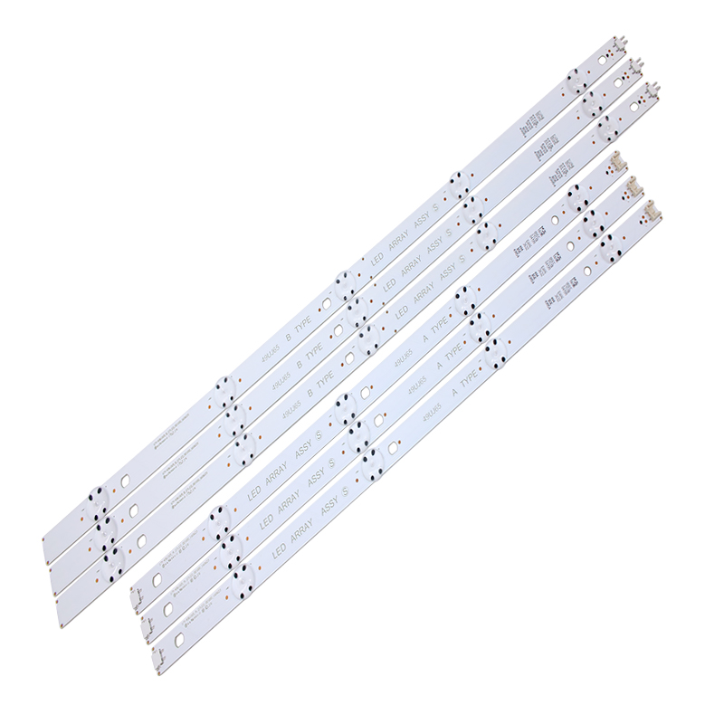 New Kit 6 PCS LED Backlight Strip For LG 49UJ701V 49UJ65 A B TYPE 17Y 49UJ65_A_27LED 49UJ65_B_27LED EAV632632404