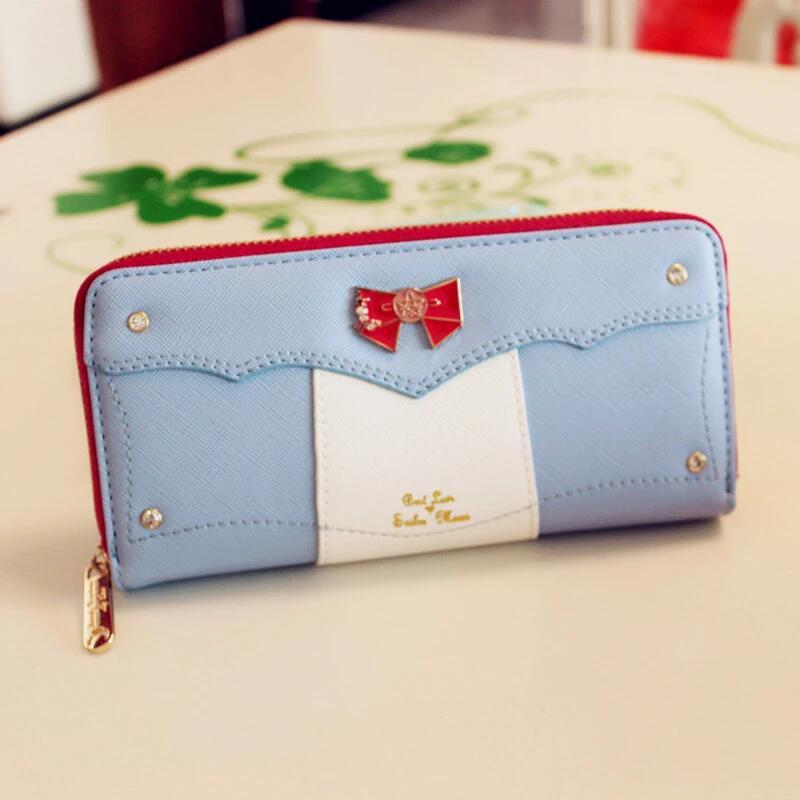 8 Color Fashion Sailor Moon Samantha Vega Luna Cat Wallet Kawaii Long Purse Cute Ladies PU Leather Wallet