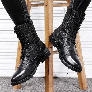 Image 5 - 2020メンズ冬カジュアルgenune革の靴男性秋軍の雪のブーツ男性のための男性ビッグサイズ36 47
