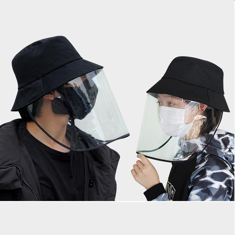 Unisex Women Men Fashion Protective Facial Mask Cap with Removable Anti-Pollution Detachable Prevention Fisherman Hat
