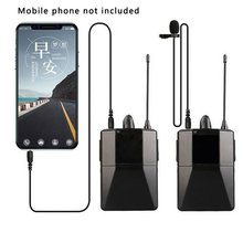 Wireless Microphone System Compatible With DSLR Cameras And Camcorders For IPhone Smartphones And Tablets