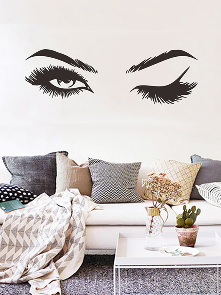 Creative Pretty eyelashes Wall Sticker Girl room living room decorations for home wallpaper