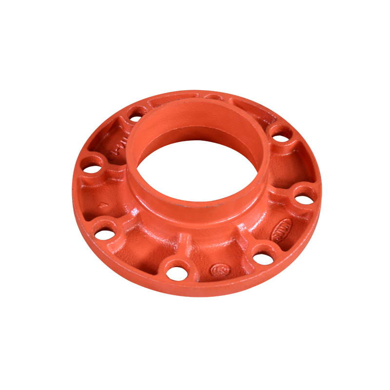 Manufacturers Direct Selling Groove Pipe Fitting Groove Conversion Flange Silk To Receive Flange Short Tube Firefighting Enginee