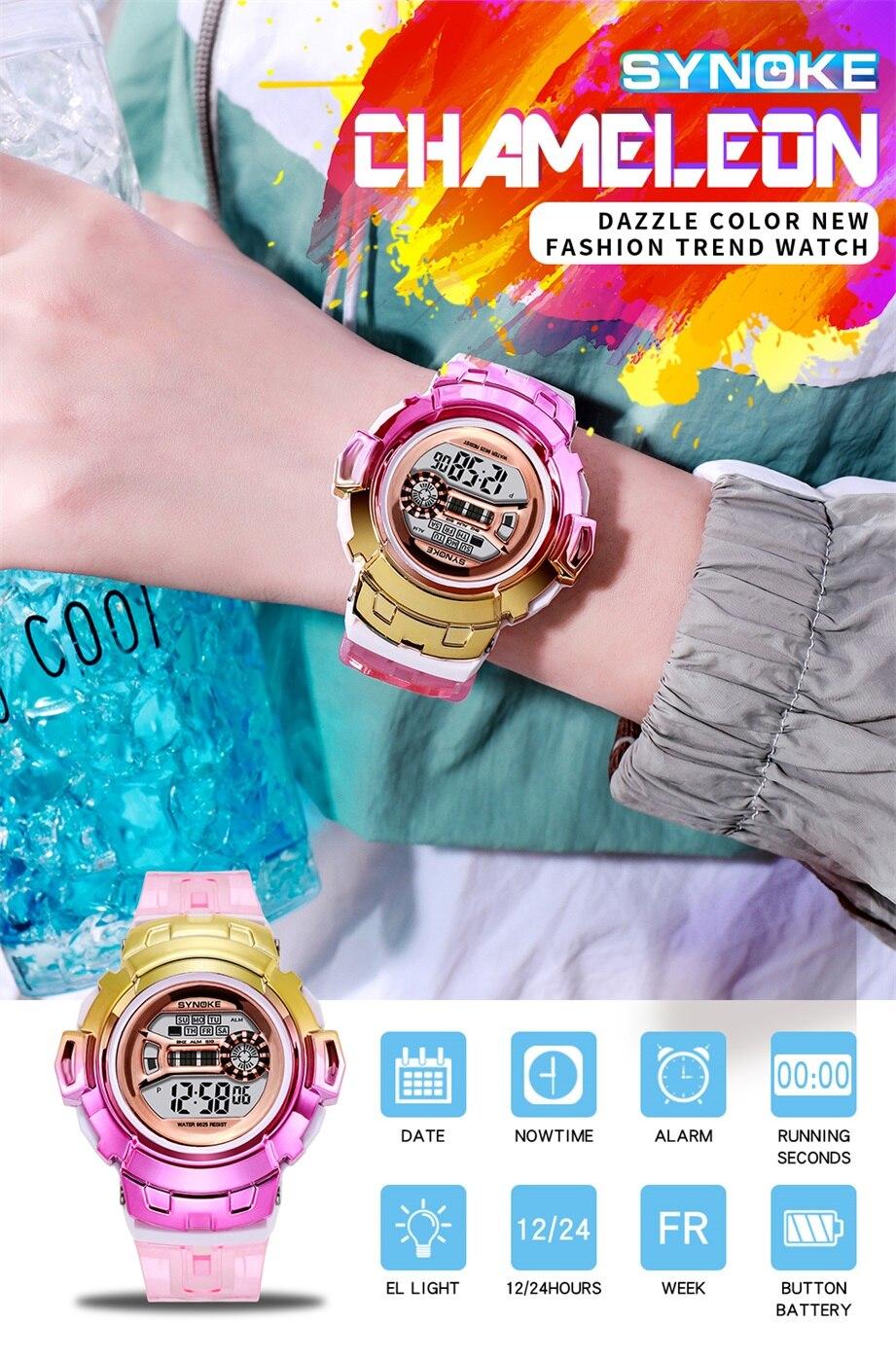 para crianças de luxo colorido relógios eletrônicos