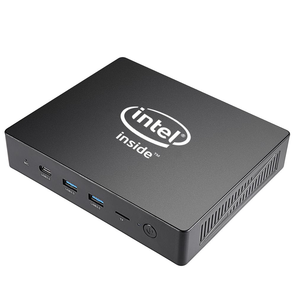 Fanless MA01 Apollo Lake Celeron J3455 Windows10 Mini Pc LPDDR4 4G EMMC64G Support M.2 HDD Lan 1000M Windows 10 Mini Computer