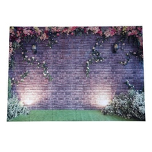 7x5ft Flowers Wall Photography Backdrops Brick Backdrop Spring Stuido Background