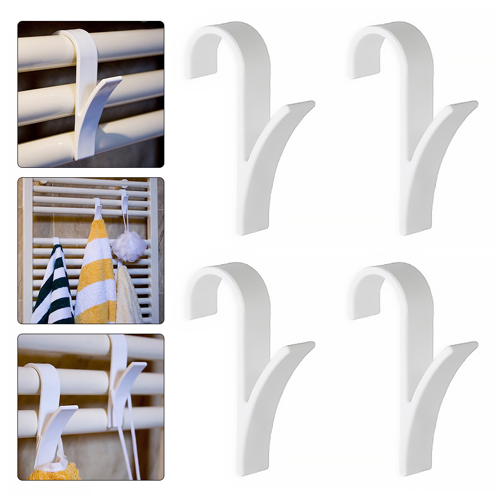 High Quality 1/4/6pcs Hanger For Heated Towel Radiator Rail Bath Hook Clothes Hanger Plegable Scarf Hanger Bathroom Towel Rack