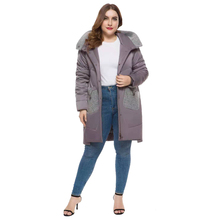 Women Long section Winter coat thickened parkas slim Medium and long winter down cotton ladies parka