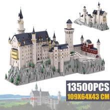 New 13500PCS Germany Swan Stone NeuSchwanstein Castle Model Kid Toys Streetview Idea Building Blocks Bricks Expert Creator gift