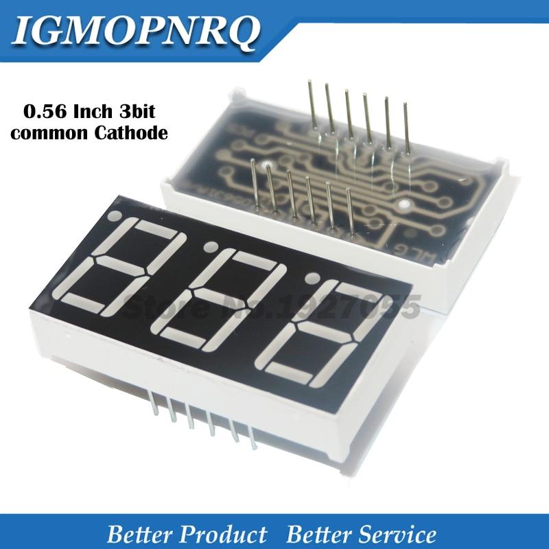 5pcs da 0.56 pollici 7 segmenti 3 bit tubo digitale rosso catodo comune LED digital display 0.56 pollici 3 cifre