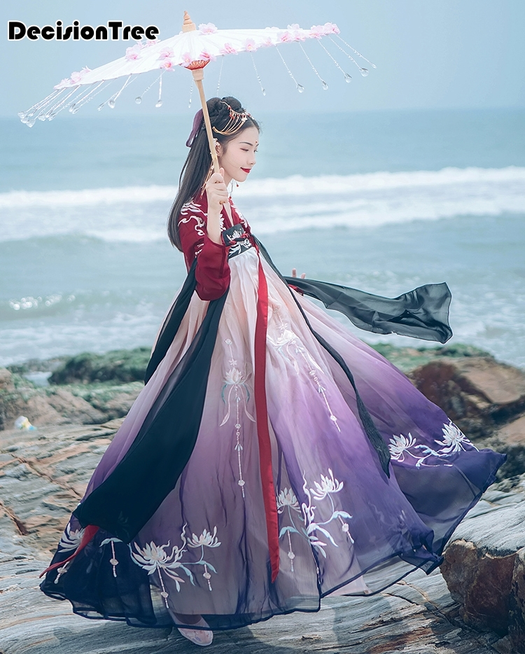2020 Hanfu National Ancient Chinese Dress Cosplay Costume Ancient Women Chinese Hanfu Clothes Lady Chinese Stage Performance