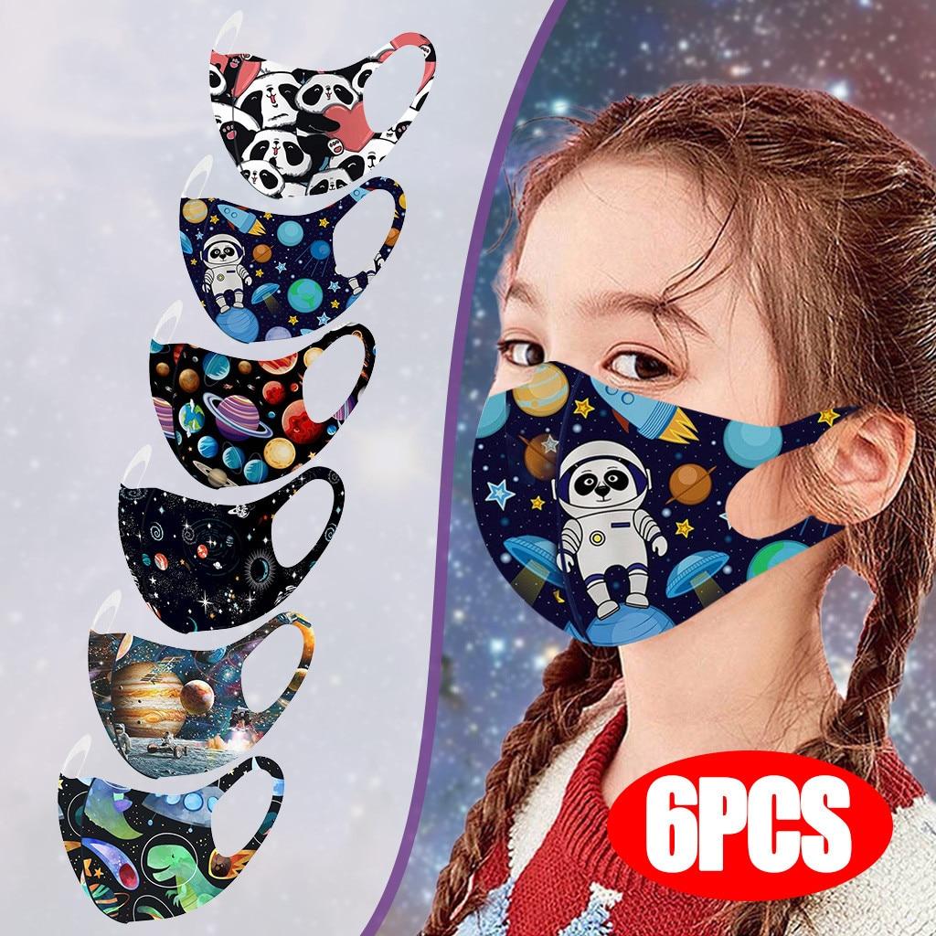 6 предмет; Нижнее белье из хлопка для детей; Масок для лица регулируемый ветрозащитный многоразовый напечатанный маска для лица Mascarillas ...