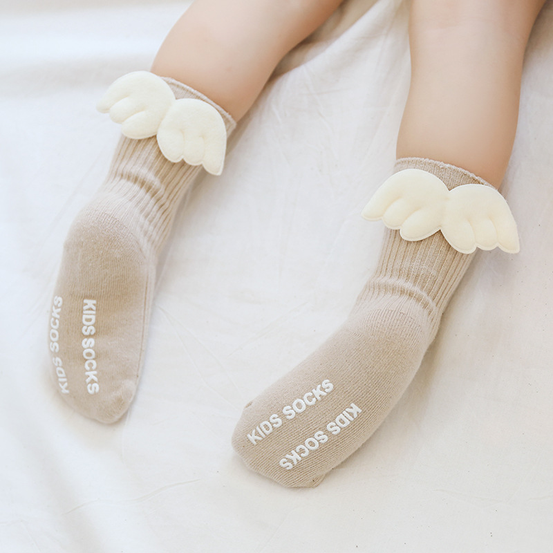 2019 Newborn Baby Girls Toddler Socks Lovely Angel Wings Sokcs Children Fashion Clothes Accessories High Quality Kids Socks