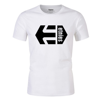 New style, Etnies top T-shirt, men's, black and white, 100% cotton, summer T-shirt, boy T-shirt, top top posters холст top posters 50х100х2см t 1061h