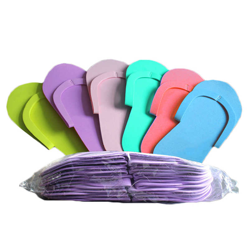 12 paren Disposable Foam Slippers Foam Pedicure Slippper Voor Salon Spa Pedicure Flip Flop Gereedschap Spa Pedicure Sandalen