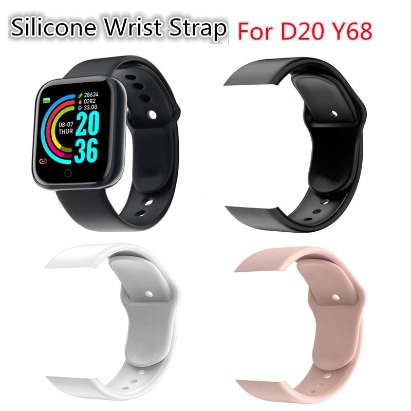 Силиконовый ремешок для D20 Y68 Смарт часы ТПУ водонепроницаемый Прочный высококачественный сменный Браслет аксессуары Смарт-аксессуары      АлиЭкспресс