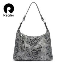 REALER shoulder bags for women 2019 luxury handbag women bag