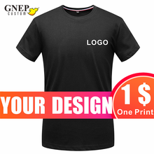 Summer Pure Cotton Men's And Women's T-Shirts Custom Casual Round Neck Short-Sleeved Tops Printing Embroidery Simple T-Shirt