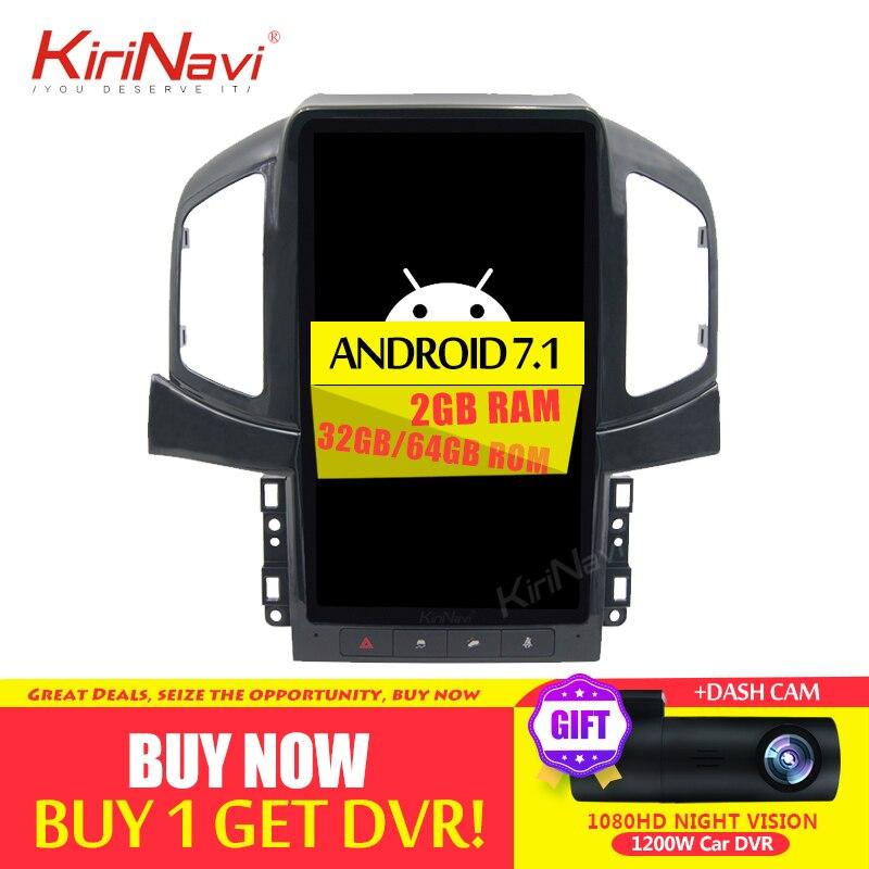 KiriNavi 13.6 ''1 Din Rádio Do Carro Android Para Chevrolet Captiva multimídia Player Do Carro Android Dvd Player GPS de Navegação 2013 -2017