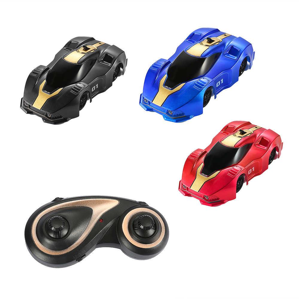Voiture télécommandée avec LED lumières 360 degrés mini mur RC voiture 3 couleur mode escalade véhicule jouets pour enfants cadeau de noël