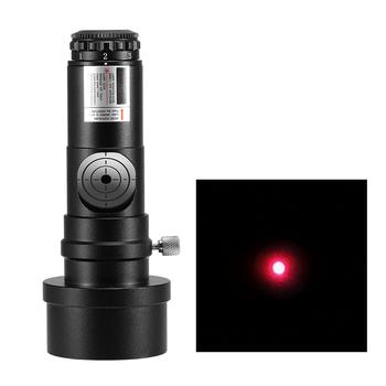 1 25IN teleskop kolimator reflektor teleskop SCA kolimacja laserowa 7 poziom jasności teleskop astronomiczny kalibrator obiektywu tanie i dobre opinie CN (pochodzenie) Monokularowy 1 25IN Telescope Collimator Aluminum alloy 635-655nm 1*CR-2032 (not include) 103 4 * 31 7mm 4 0 * 1 2in