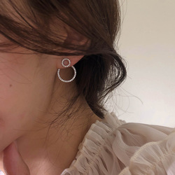 Micro Pave Zircon Front And Back Circle Stud Earrings For Women 2020 New Jewelry Delicate Earings Wholesale