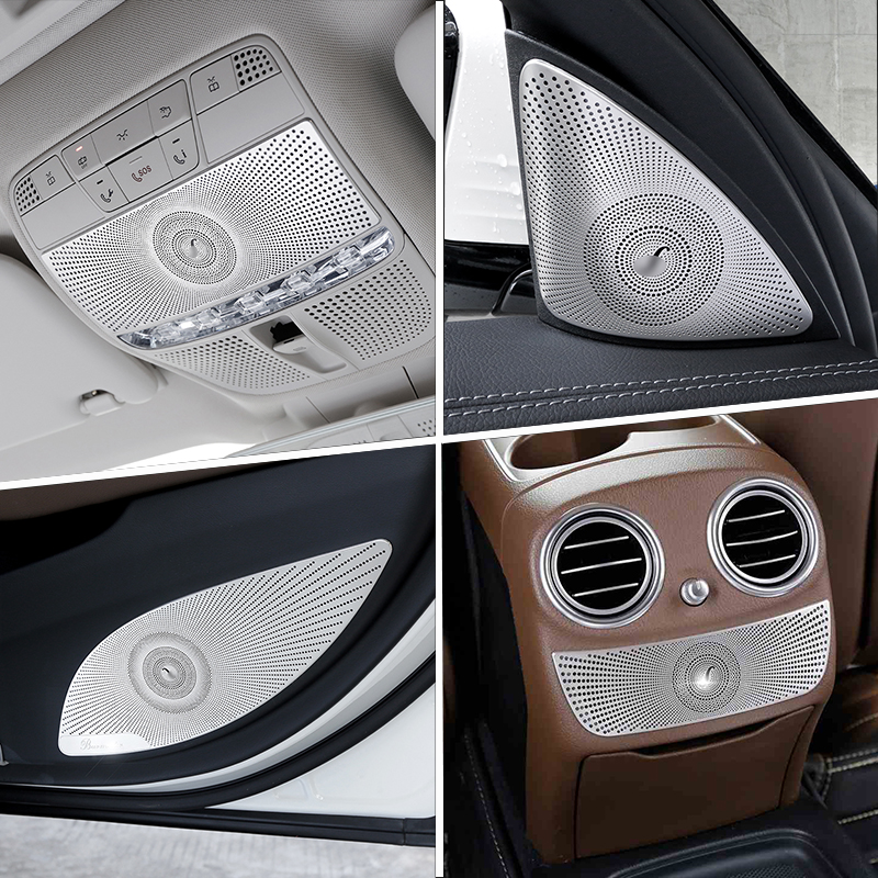 Car Door Audio Speaker Cover Air Conditioning Panel Reading Light Trim Stickers for <font><b>Mercedes</b></font> <font><b>Benz</b></font> E Class <font><b>W213</b></font> Auto <font><b>Accessories</b></font> image