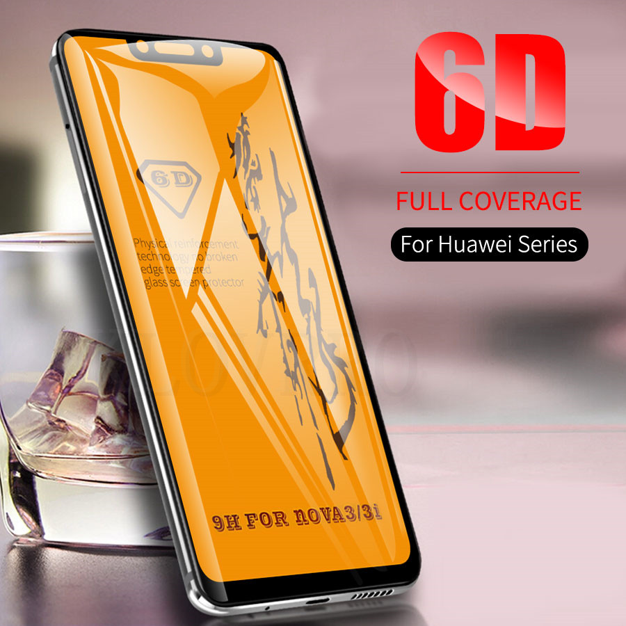 6D Full Coverage Tempered Glass For Huawei Nova 3 P20 Lite Pro Mate 20 Lite Screen Protector Film For Honor 9 9 Lite 10 Glass