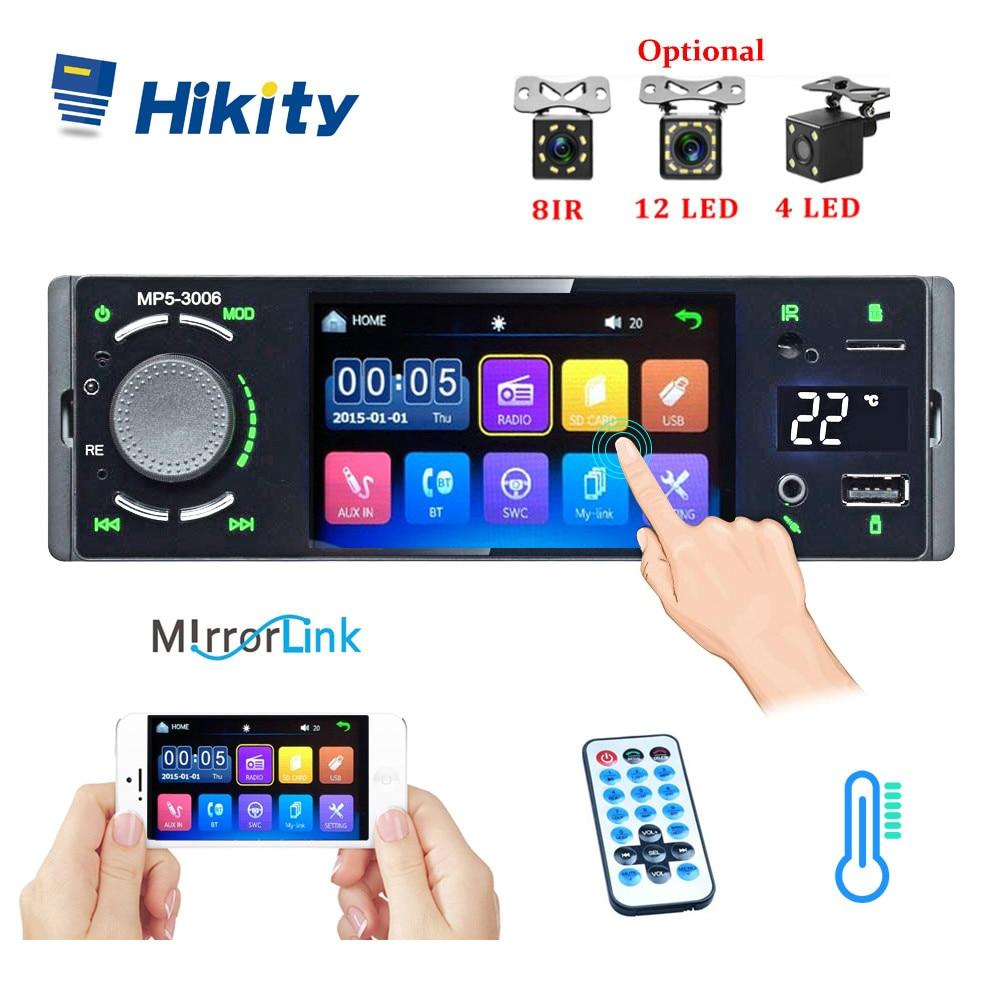 Hikity autoradio rádio do carro 1din 4.1