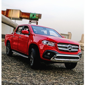цена на WELLY 1:24 Mercedes Benz Mercedes-Benz X-Class simulation alloy car model crafts decoration collection toy tools gift