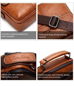 Image 5 - Celinv Koilm Mens Crossbody Shoulder Bags Big Size Split Leather Handbag Fashion Business  Messenger Bag High quality Tote Hot