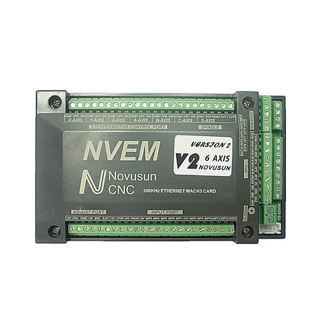Cartão de Controle Nvum Eixos 200 Khz Roteador Cnc 6 Mach3 Usb