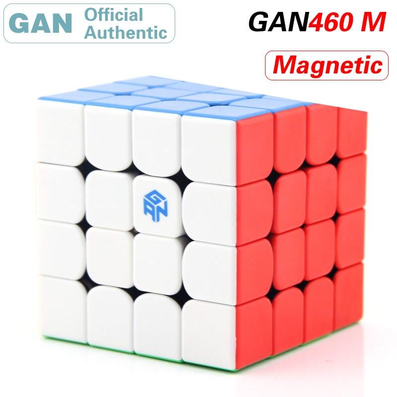 ガン 460 メートル磁気 4 × 4 × 4 マジックキューブ 4 × 4 460 メートル/GAN460M 立方プロネオ SpeedCube パズル抗ストレスフィジェットおもちゃ子供のため  グループ上の おもちゃ & ホビー からの マジックキューブ の中 1