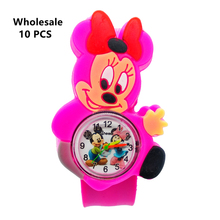 (Wholesale 10 Pcs) Cartoon Mickey Minnie Kids Watches Slap P