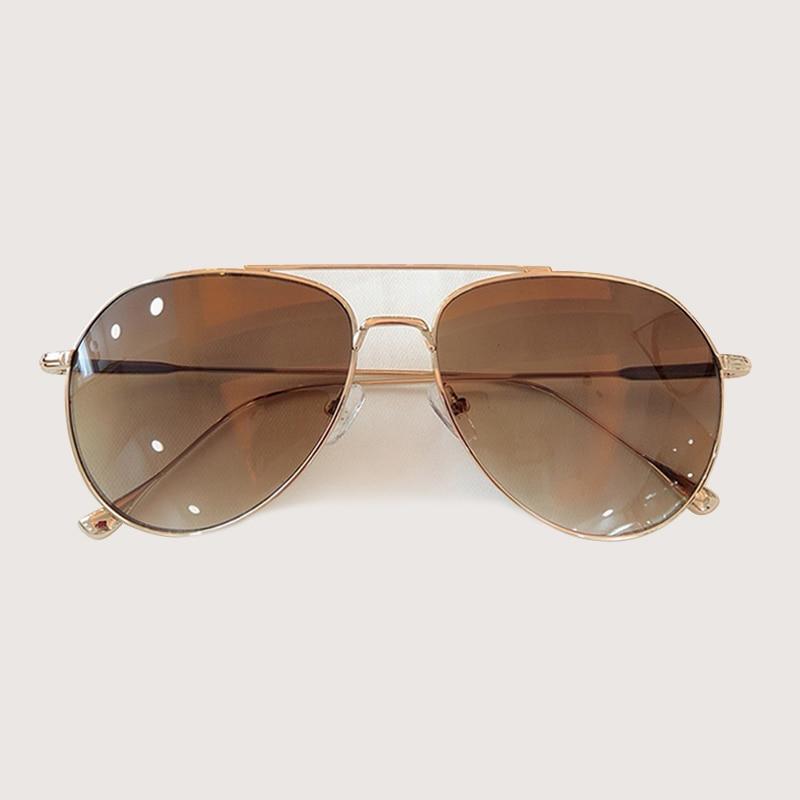 Retro Pilota Occhiali Da Sole Donne Degli Uomini di Modo Occhiali Da Sole Abbigliamento Accessori gafas de sol hombre - 3