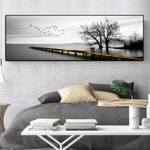 Wall Art Nordic Landscape Posters and Prints Lake Trees Canvas Painting Pictures for Living Room Cuadros Home Decor