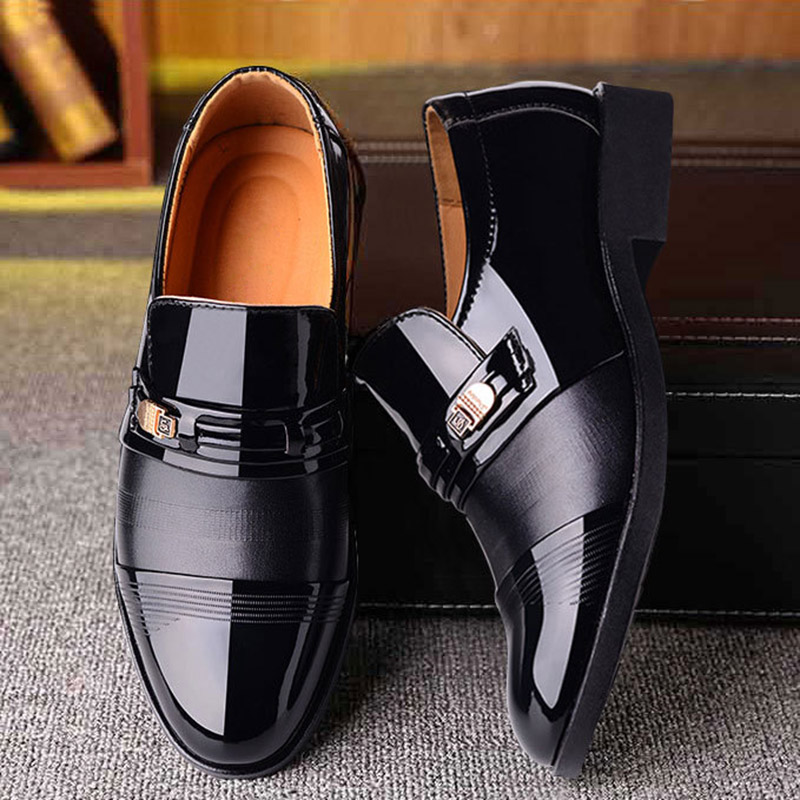 2020 new men dress shoes high quality leather formal shoes men big size 38-48 oxford shoes for men fashion office shoes men 3