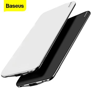 Baseus Ultra Slim 10000 mAh Power Bank dla iPhone Xiaomi mi USB typ C szybka 10000 mAh Powerbank przenośna zewnętrzna ładowarka tanie i dobre opinie Bateria litowo-polimerowa Rok wybudowania kable Pojedyncze USB 10000mAh Do tabletu Do smartfona Apple Interfejsu USB Typu C