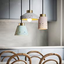 Vintage Cement Pendant Lights Multicolor Nordic Hanging Lamp Modern Industrial Kitchen Pendant Lamp Home Decor Light Luminaire(China)