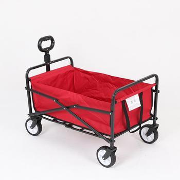 Czerwony taczka wózek ogrodowy przenośny wózek plażowy składany wózek kempingowy koszyk zakupowe koszyk Carretilla tanie i dobre opinie max 500 lbs 20041708422979758 487074 Zinc Alloy Folding cart Gardening Cart Unisex 1200 gram 48x78x100cm Wheelbarrow Garden Trolley