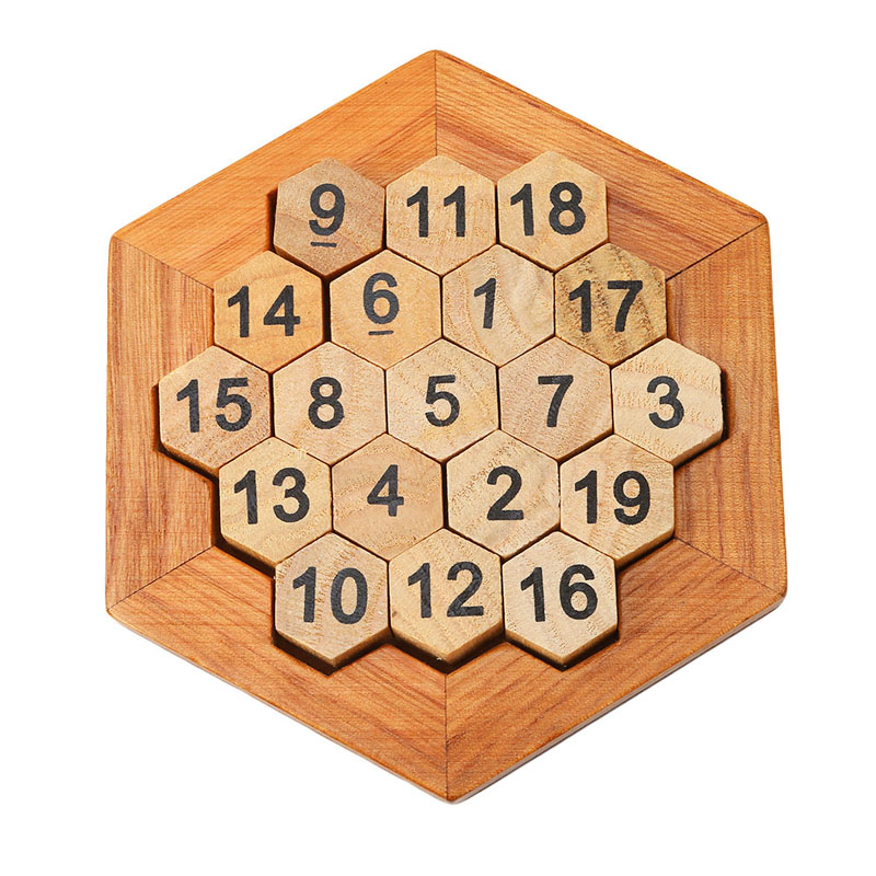 2017 New Classic Wooden Math IQ Game Toy Mind Brain Teaser Wooden Puzzles For Children Gifts Adult Kids Educational Classic Toy