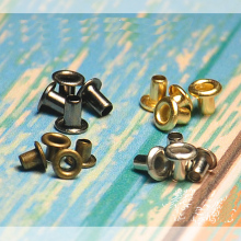 200pcs 1.0mm Mini Eyelet Buttons for DIY Doll Belt Buckles brass Grommets Buttons Bag Shoes Clothes Sewing Accessories