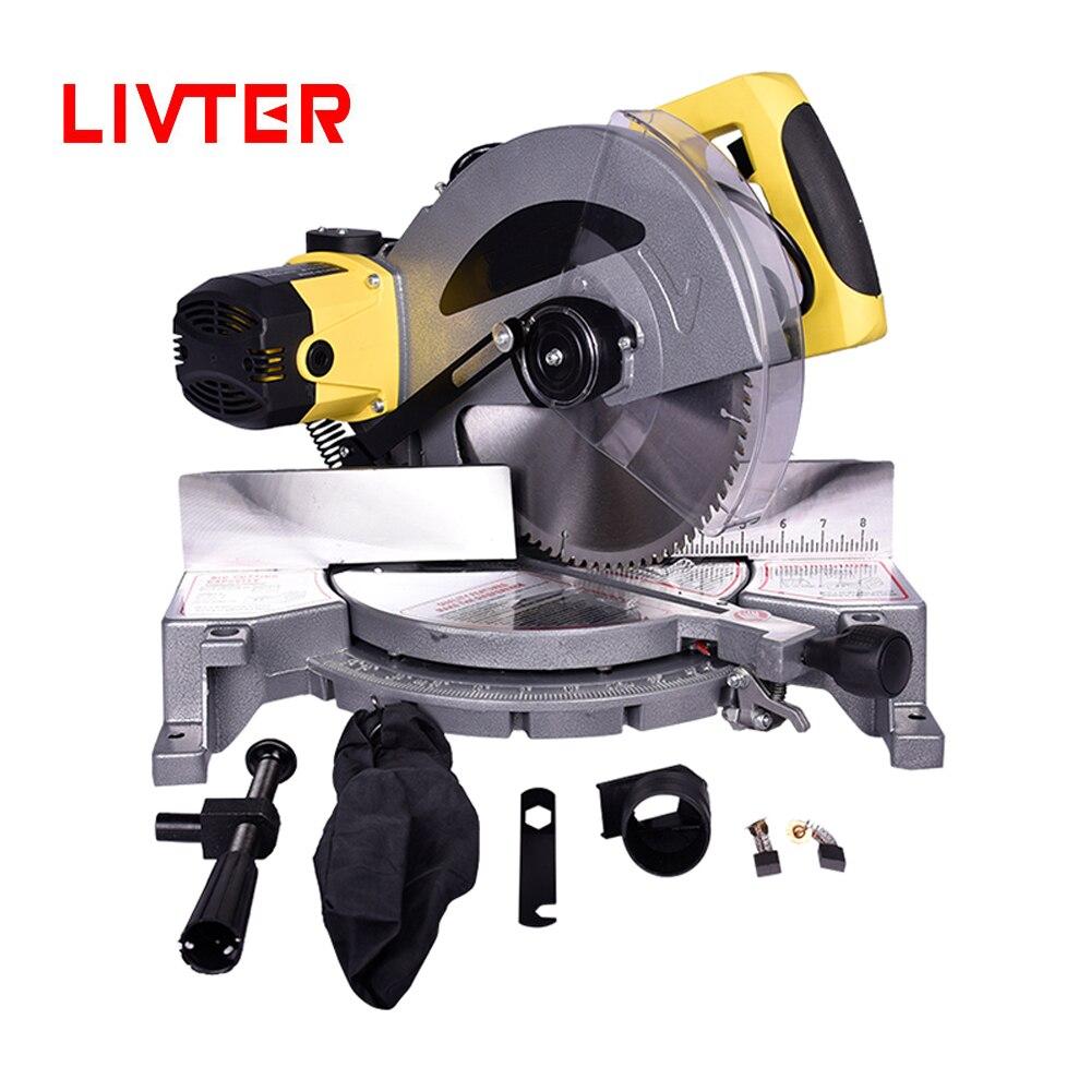 He0f6cc666a3e420f9820e37b703c581b8 - LIVTER multifunctional wood aluminum cutting machine single bevel compound mitre saw
