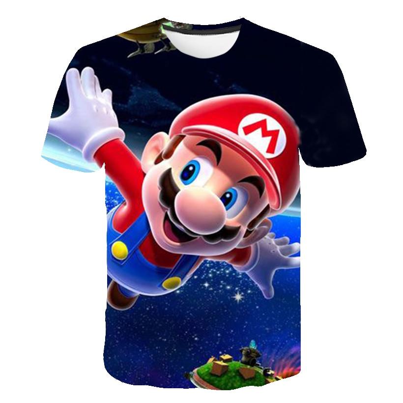 Latest Harajuku Classic Games Super Mario Child Boys And Girls T Shirt Super Smash Bros 3D T-shirt Hip Hop Tshirt Streetwear