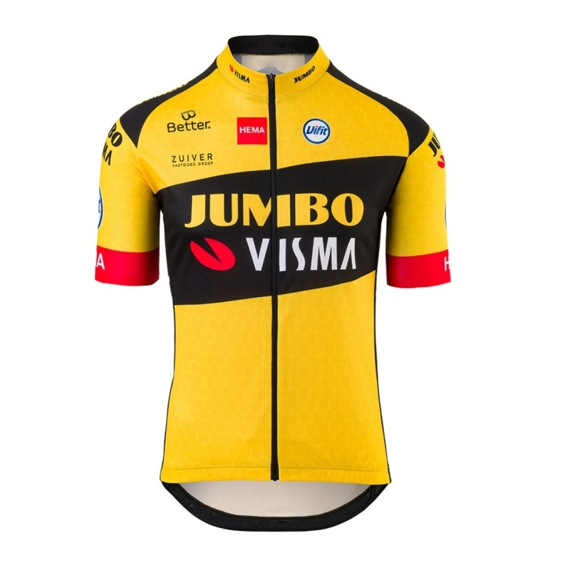 Cycling Jersey Bike-Clothing MTB Bicycle-Maillot Jumbo Visma Pro-Team Mens New Lightweight title=